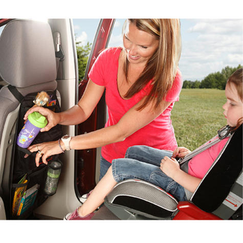 Diono Stow 'n Go Seat Back Organizer | Kids In-Car Storage | Easy To Use & To Attach Thumbnail 3