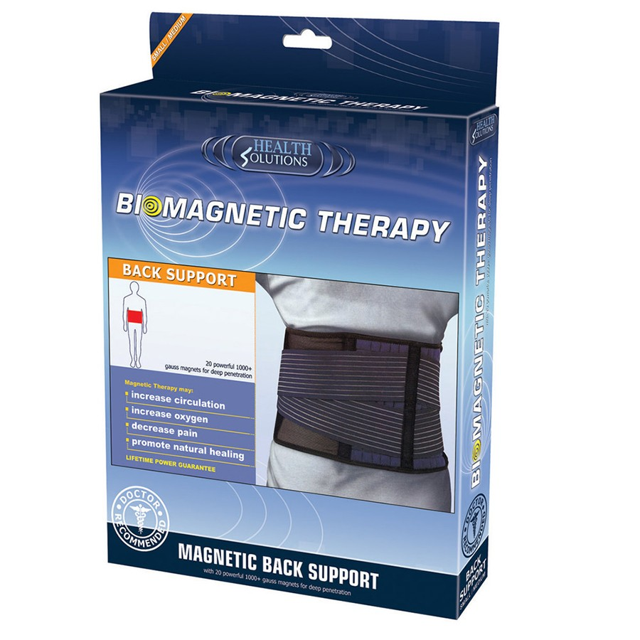 Health Solutions Magnetic Lumbar Back Support (S/M) | Biomagnetic Belt Brace Strap