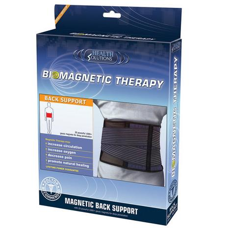 Health Solutions Magnetic Lumbar Back Support (S/M) | Biomagnetic Belt Brace Strap Thumbnail 1