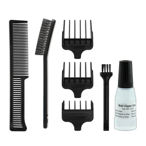 Wahl 9307-5317 T-Pro Corded Men's Hair Trimmer Clipper Kit | 9 Piece Kit | Red Thumbnail 4