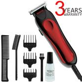 Wahl 9307-5317 T-Pro Corded Men's Hair Trimmer Clipper Kit | 9 Piece Kit | Red