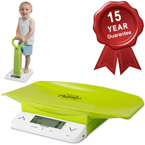 Salter MiBaby Baby Toddler Digital Bathroom Scale | Weight- Height | Body Mass Index Thumbnail 1