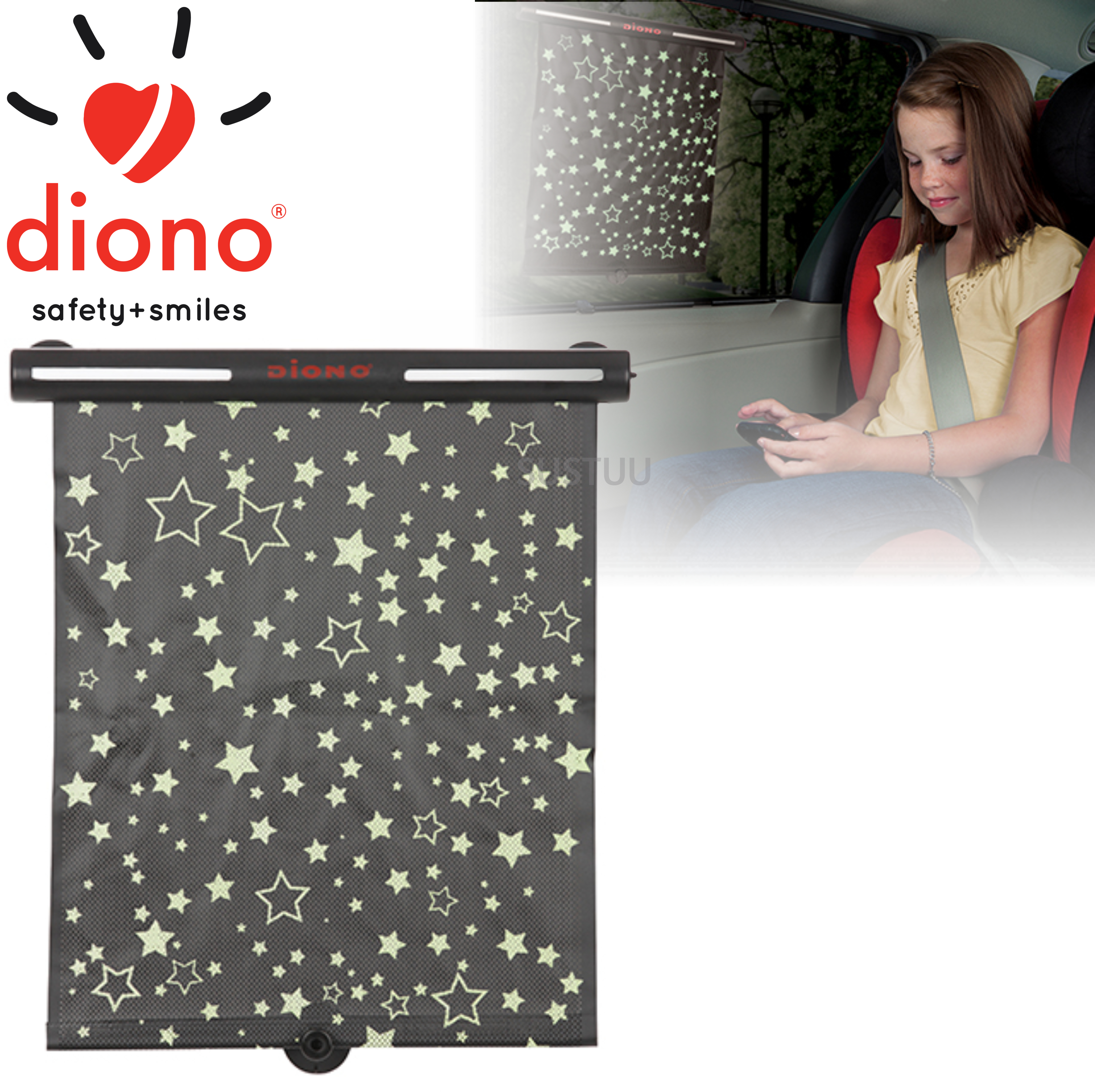 Diono Starry Night Sun Shade | Provide Sun Protection To Your Baby | Easy To Use | New