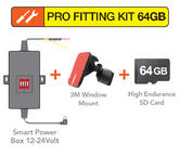 Mio Pro Fitting Kit | Smart Power Box+Window Mount+64GB Memory Card | For Mivue Units