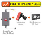 Mio Pro Fitting Kit | Smart Power Box+3M Window Mount+128GB Memory Card | For Mivue Units