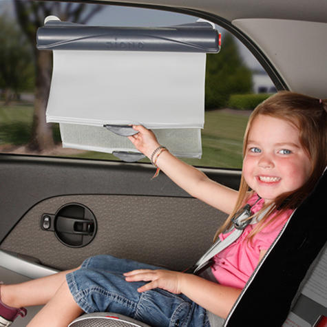 Diono Car Solar Eclipse | 43.3cm Wide Retractable Window Dual Sun Shade For Baby Thumbnail 3
