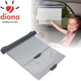 Diono Car Solar Eclipse | 43.3cm Wide Retractable Window Dual Sun Shade For Baby