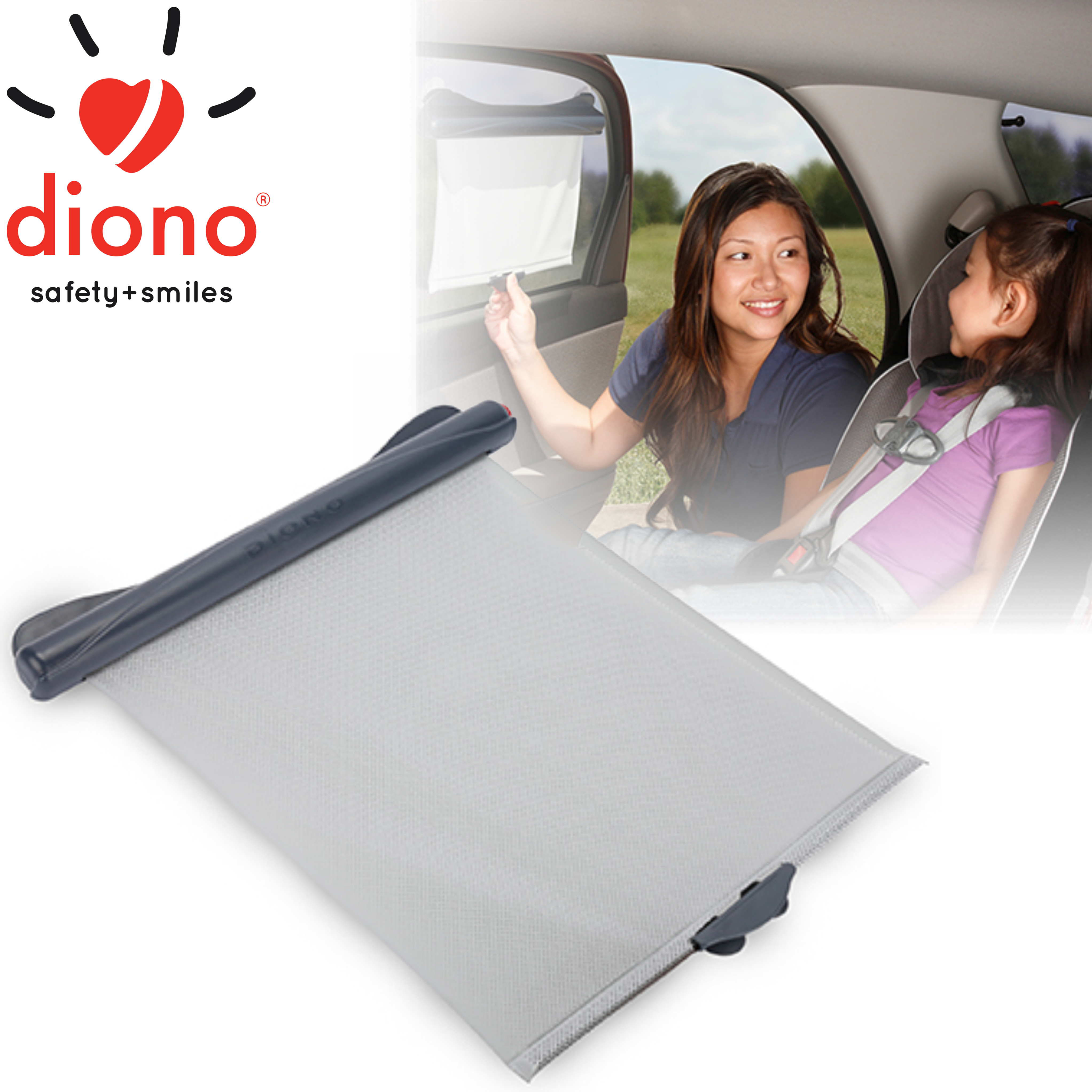 Diono Solar-Max Retractable Universal Car Window Sun Shade For Baby | Lightweight