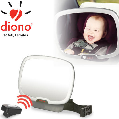 Diono Easy View Plus Car Seat Mirror | Light Remote Control Back View | 360 Degrees Thumbnail 1