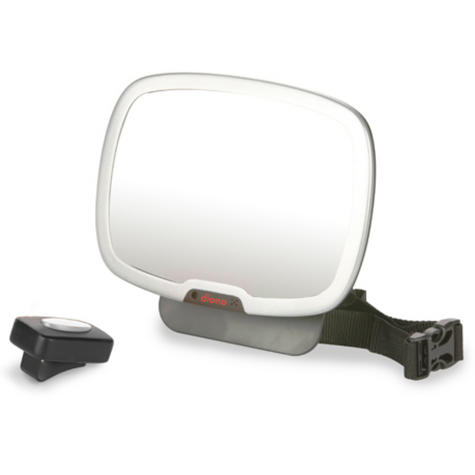 Diono Easy View Plus Car Seat Mirror | Light Remote Control Back View | 360 Degrees Thumbnail 2