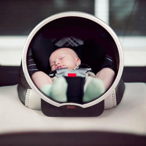 Diono Back Seat Car Mirror For Easy View Of Baby | 360 Degree Pivot | Adjustable  Thumbnail 2