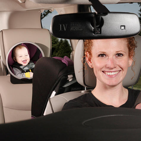 Diono Back Seat Car Mirror For Easy View Of Baby | 360 Degree Pivot | Adjustable  Thumbnail 4