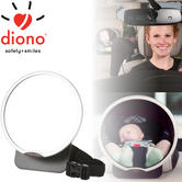 Diono Back Seat Car Mirror For Easy View Of Baby | 360 Degree Pivot | Adjustable