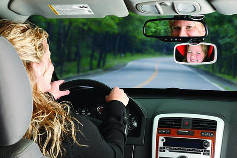 Diono See Me Too Adjustable Backseat Mirror In Car To Monitor Baby | Easy To Use Thumbnail 3