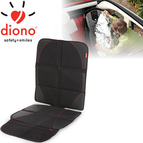 Diono Ultra Mat Deluxe Seat Protector With Integrated Car Seat Shade | Easy To Use Thumbnail 1