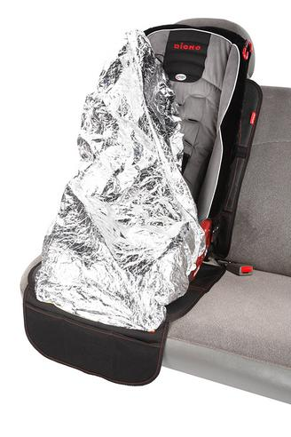 Diono Ultra Mat Deluxe Seat Protector With Integrated Car Seat Shade | Easy To Use Thumbnail 4