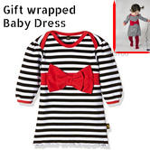 Rockabye Baby Red Bow Dress Black & Red|Super Soft Cotton|Washable|For 6-12Month