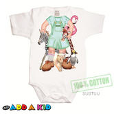 Just Add a Kid'Jungle Jane'Bodysuit 100% Cotton Comfortable For 12-18 Month Baby