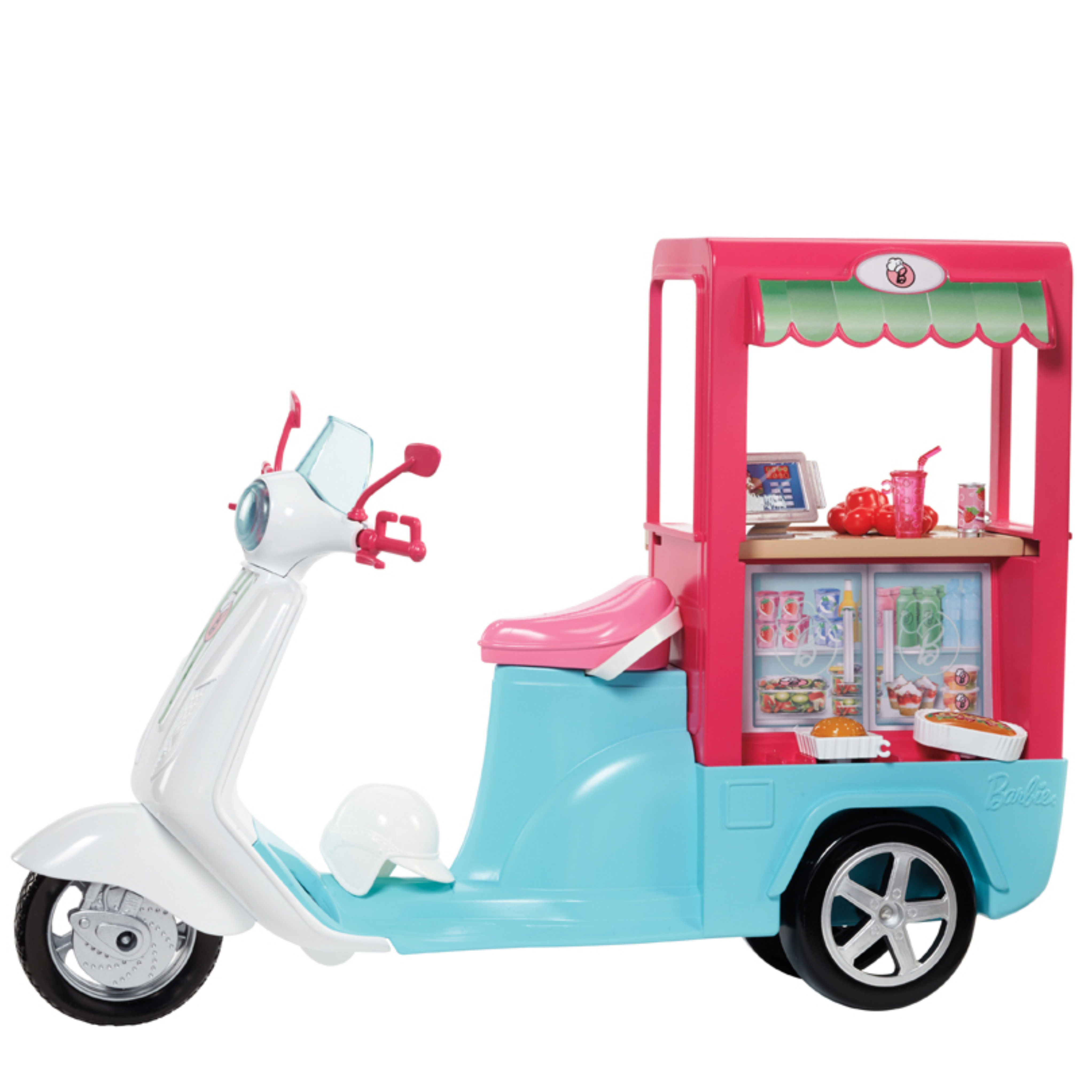Barbie Bistro Scooter|Play Set With Accessories|Creative Activity Toy For Kids|