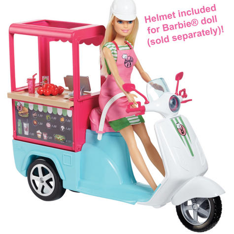 Barbie Bistro Scooter|Play Set With Accessories|Creative Activity Toy For Kids| Thumbnail 6