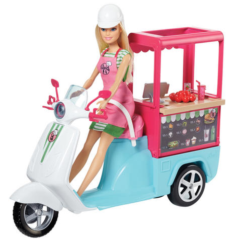 Barbie Bistro Scooter|Play Set With Accessories|Creative Activity Toy For Kids| Thumbnail 8