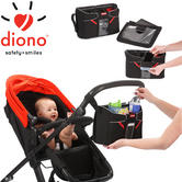 Diono Buggy/Pram Tech Station | Universal Baby Storage Bag With Phone Section | New