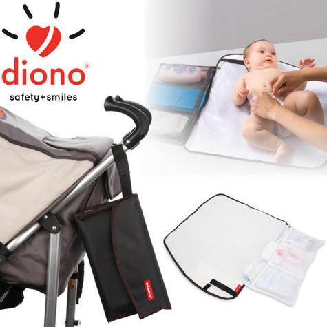 Diono Change 'n Go baby/Child Travel Nappy Changing Mat | Washable & Waterproof Thumbnail 1