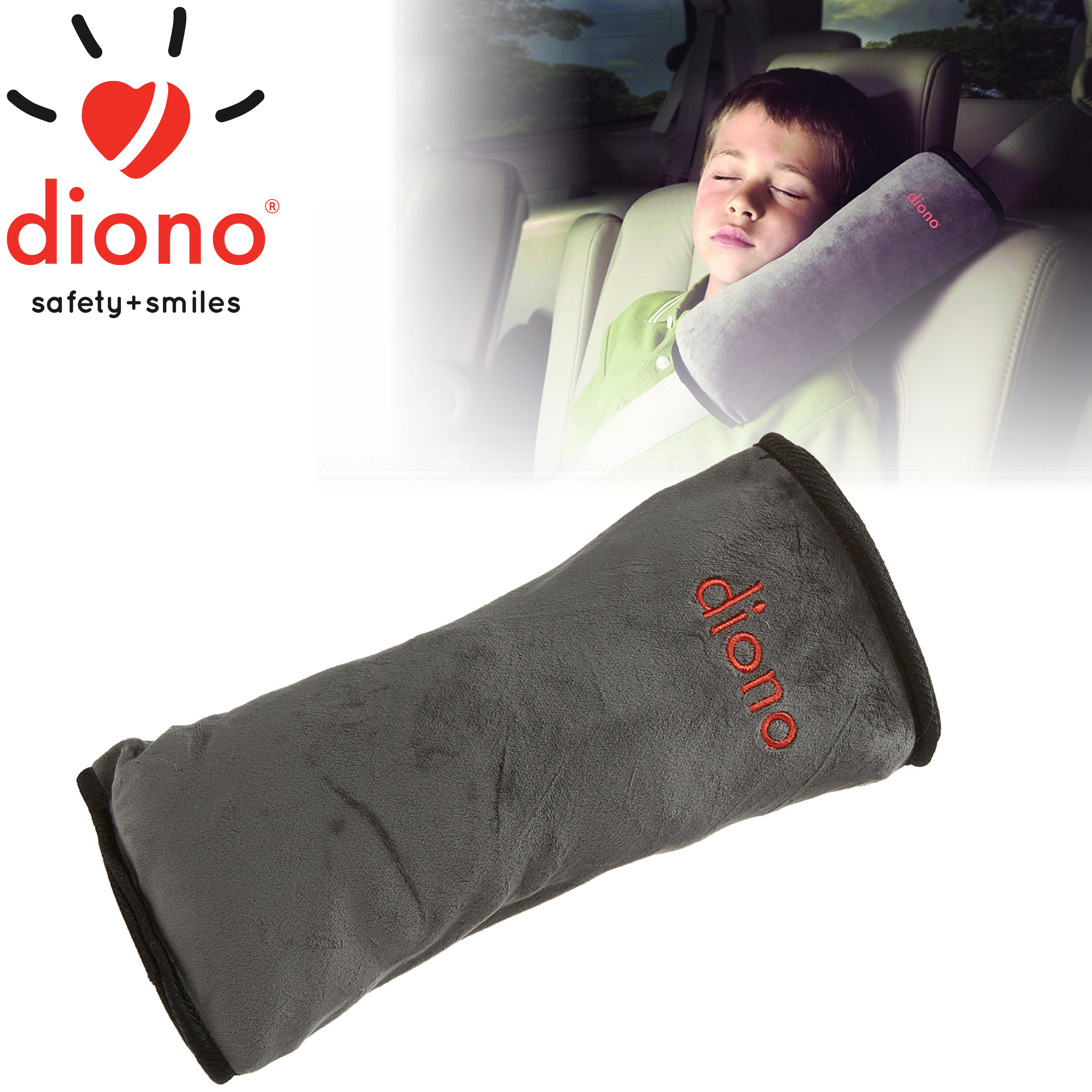 Diono Child/Toddler's Car Seatbelt Soft & Comfy Micro-Fleece Pillow | Washable | New