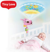 Tiny Love Suzie Take-Along Projector Soother Pink | 360 Degree Rotation | With music | New