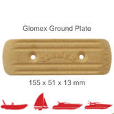 Glomex RA203 Rectangular Ground Plate |155x51x13 mm|For RIB/ Sail/ Power Boats