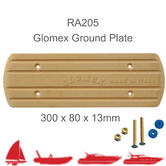 Glomex RA205 Rectangular Ground Plate|300 x 80 x 13mm|For RIB/ Sail/ Power Boats