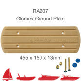 Glomex RA203 Rectangular Ground Plate |455 x 150 x 13mm|For RIB/ Sail/ Power Boats