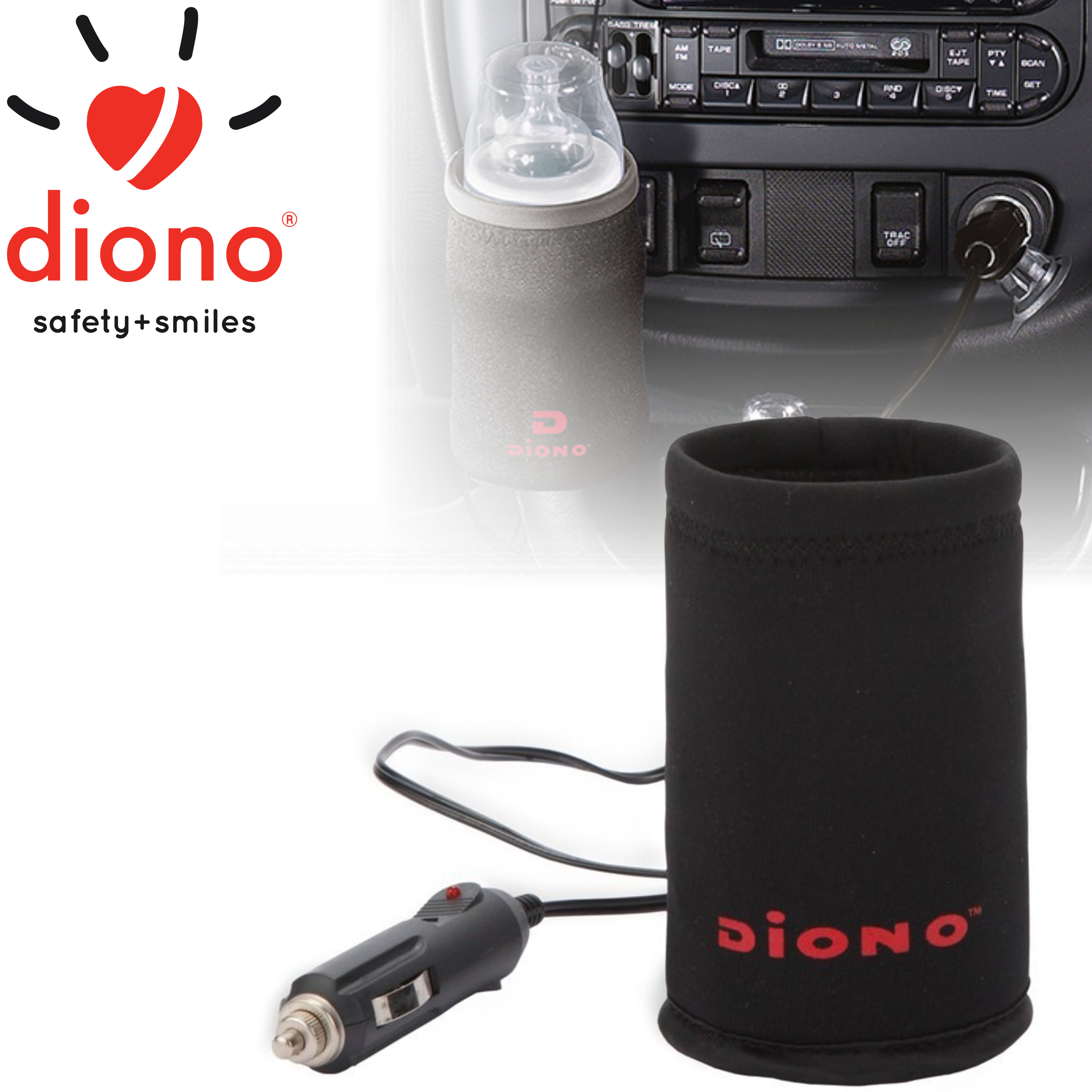 Diono Warm 'n Go Deluxe Plug-In Car Insulated Travel Bottle Warmer For Baby/Kids