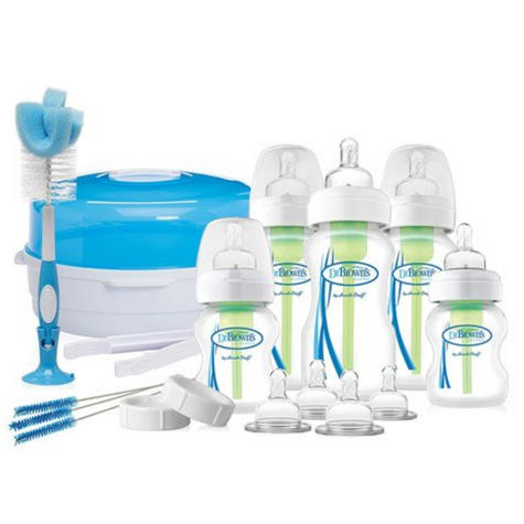Dr Browns Options Bottle & Steriliser Newborn Gift Set | Reduce Colic,Burping,Wind Thumbnail 2