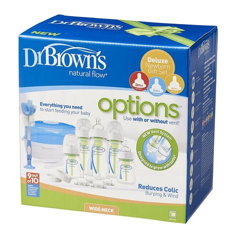Dr Browns Options Bottle & Steriliser Newborn Gift Set | Reduce Colic,Burping,Wind Thumbnail 3