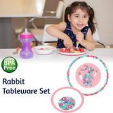 Vital Baby Rabbit Baby Tableware Set|Dishwasher Safe|BPA Free|Printed|2 Piece