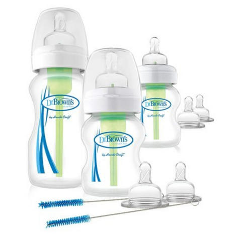 Dr Brown's Options Wide Neck Anti-Colic Starter Kit | Reduces Colic,Burping & Wind Thumbnail 2