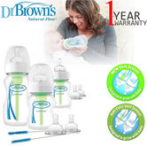 Dr Brown's Options Wide Neck Anti-Colic Starter Kit | Reduces Colic,Burping & Wind