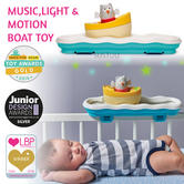Taf Toys 3 in 1 Music, Light & Motion Boat Toy|Bedtime & Playtime Soother Toy |