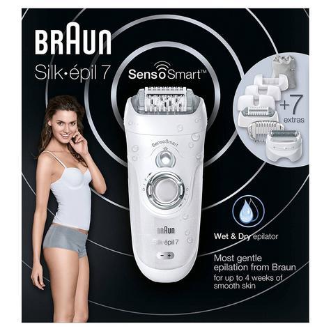 Braun Silk-Epil 7 SensoSmart Cordless Epilator + 7 Attachments | Wet & Dry | Silver Thumbnail 6