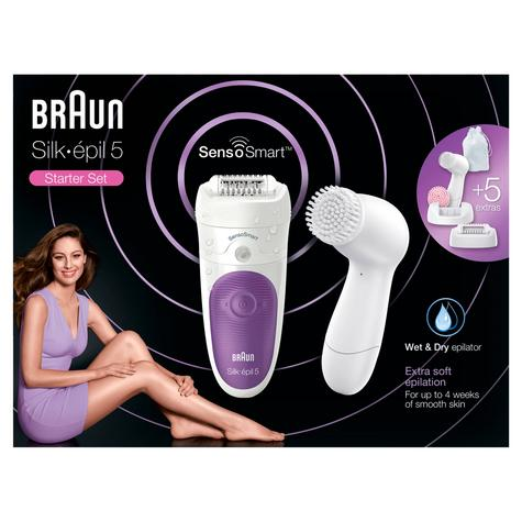 Braun Silk-épil 5 SensoSmart Wet & Dry Epilation Starter Set | 5 Extras | Waterproof Thumbnail 6