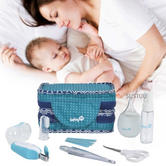 Safety 1st Newborn Baby Care Vanity Kit|Indoor & Outdoor Set|Travel Zip Case|
