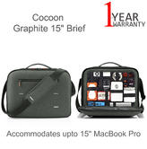 "Cocoon MCP3302GF Graphite 15"" Retina Briefcase For MacBook Pro 