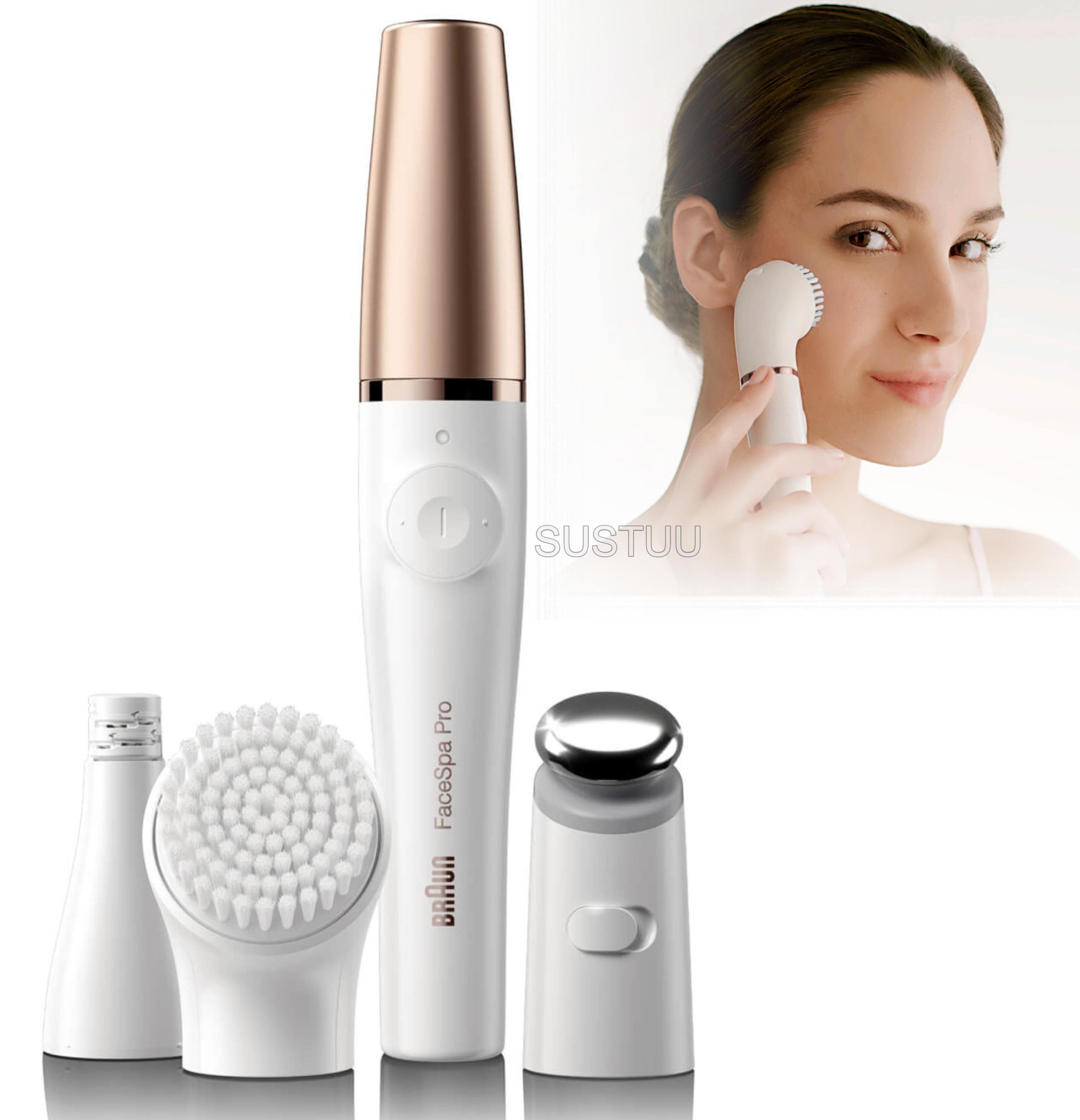 Braun FaceSpa Pro 3 in 1 | Facial Epilation-Cleansing & Skin Toning System | 3 Extra