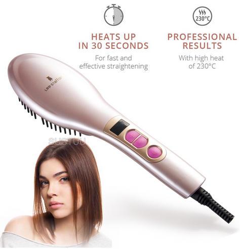 Lee Stafford Coco Loco Heated Hair Straightening Brush/Comb | Ceramic Plates | 230°C Thumbnail 1
