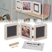 Baby Art My Baby Touch 2 Cast with Photo Frame|Hand & Footprint|Copper White|