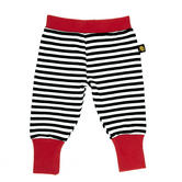 New Rockabye Baby Baggy Trousers Black and Red|Super Soft Cotton|Washable|6-12m