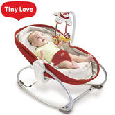 Tiny Love 3 in 1 Rocker Napper Red Cream | Musical Toy, Light & Soft Vibrations | New