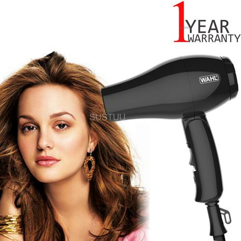Wahl ZX982 Compact Travel Hair Dryer+Diffuser | 1000W | Quick Drying | Foldable | Black Thumbnail 1