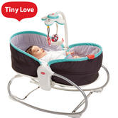 Tiny Love 3in1 Rocker Napper Grey-Turquoise | Musical Toy,Light & Soft Vibrations | New